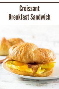 Croissant Breakfast Sandwich #breakfast #sandwich #eggs