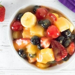 Fruit salad with pudding recipe