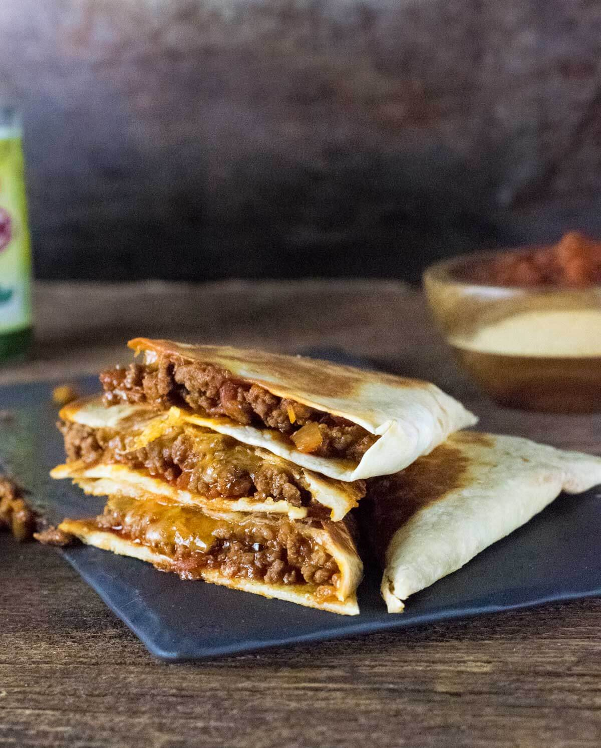 Ground beef quesadillas recipe