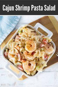 Cajun shrimp pasta salad