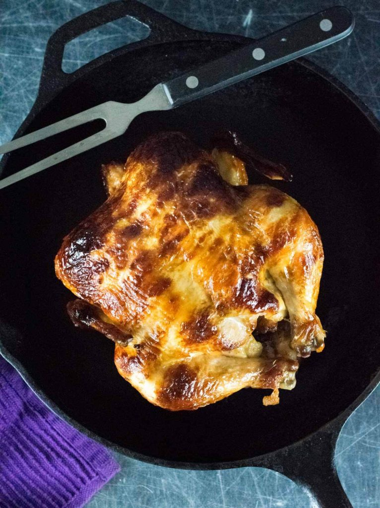 Homemade Rotisserie Chicken in the oven