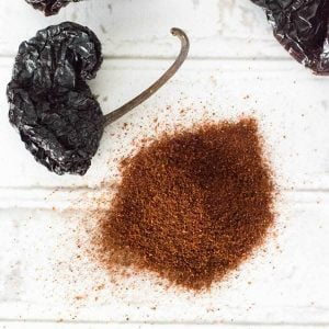 Homemade ancho chili powder