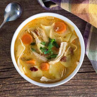 Spicy Chicken Noodle Soup recipe