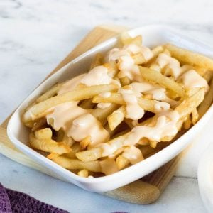 Cheese sauce recipe for fries.