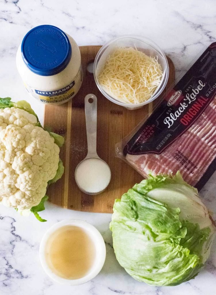 Tequilaberry Salad ingredients with real Hellmann's mayonnaise.