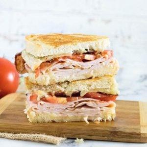 Turkey melt sandwich recipe.
