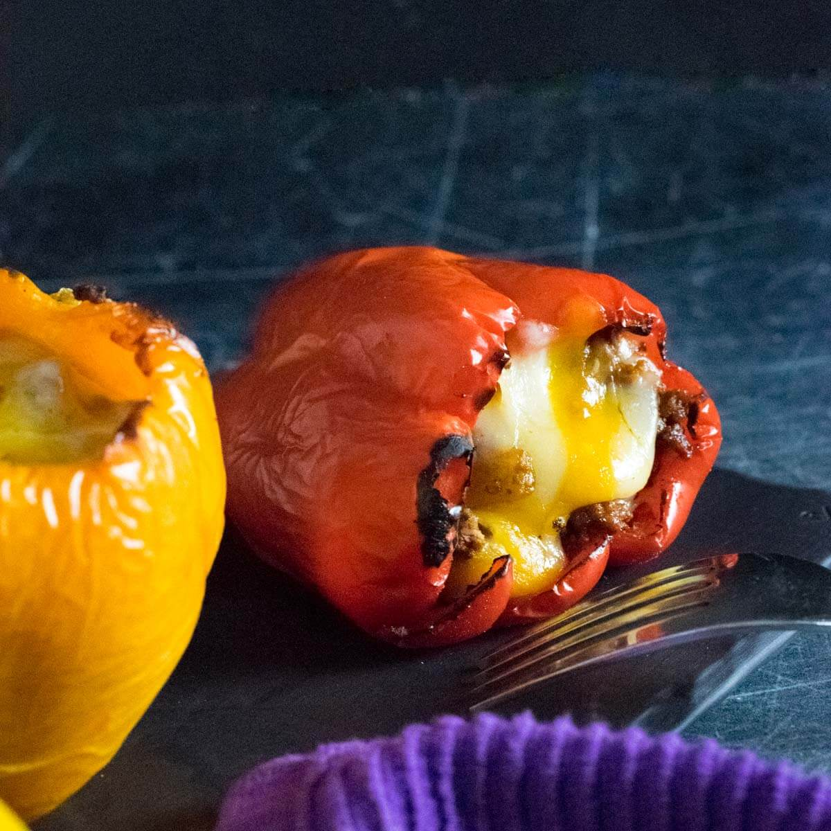 Stuffed bell peppers without rice.
