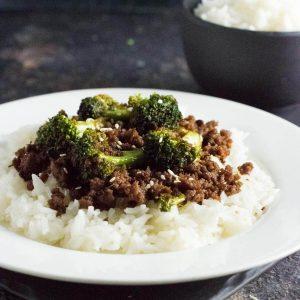Ground beef and broccoli recipe.