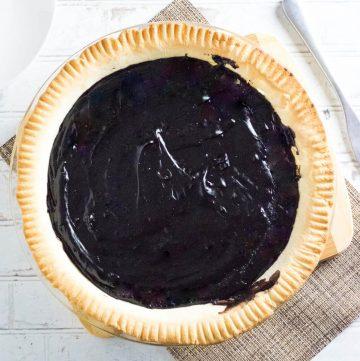 Old fashioned chocolate pie recipe.
