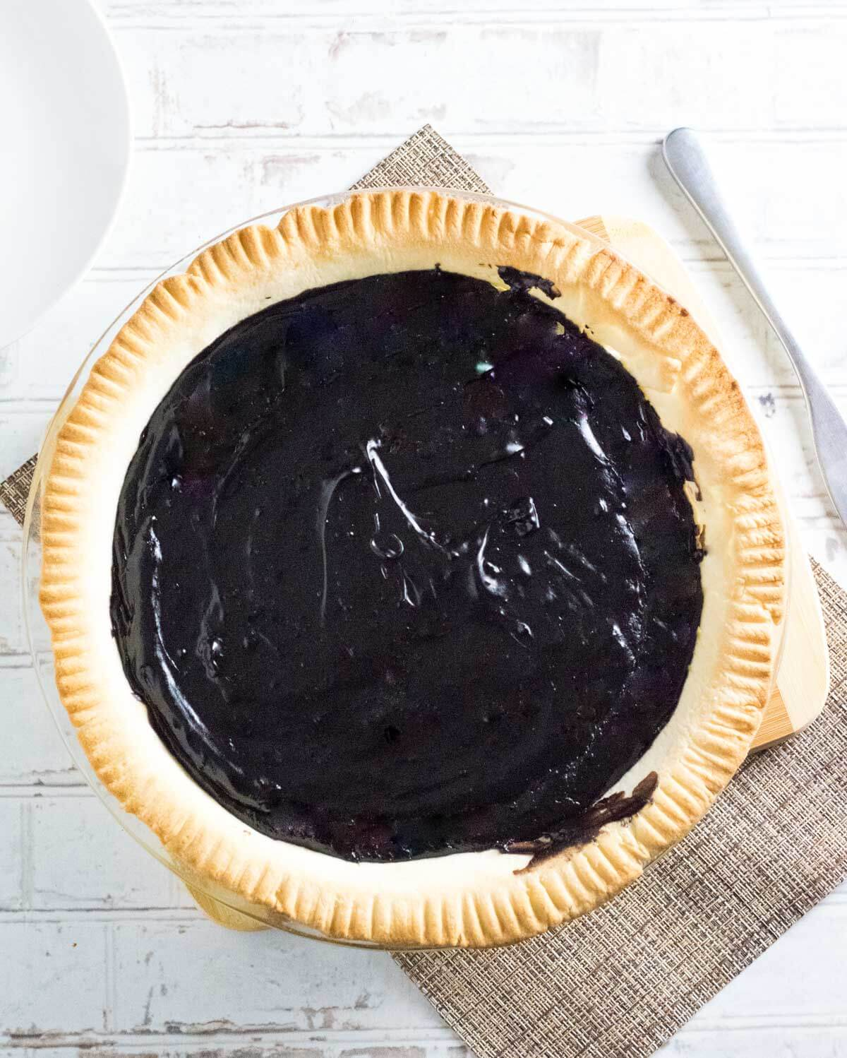 Old fashioned chocolate pie.