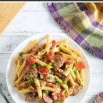 Andouille sausage pasta.