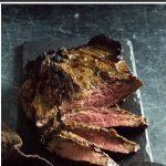 Broiled flank steak.