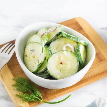 Spicy cucumber salad recipe.